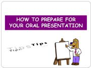 English powerpoint: How to prepare an oral presentation