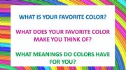 English powerpoint: The meaning of colors