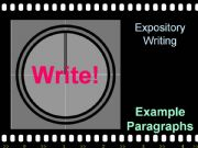 English powerpoint: Expository Writing