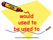English powerpoint: would, used to, be used to