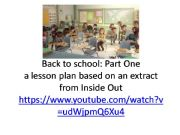 English powerpoint: Back to School: Riley´s first day part 1