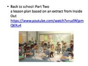 English powerpoint: Back to School: Riley´s first day part 2