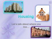 English powerpoint: Housing