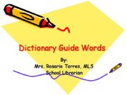 English powerpoint: Dictionary Guide Words