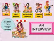 English powerpoint: Introducing people-an interview