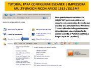 English powerpoint: TUTORIAL CONFIGURACION AFICIO ESCANER AFICIO 1515
