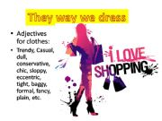 English powerpoint:  dialogues about clothes