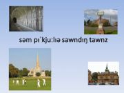 English powerpoint: British Town Names. Pronunciation Activity