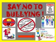 English powerpoint: Say no to bullying with practice of should shouldn´t