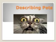English powerpoint: DESCRIBING PETS