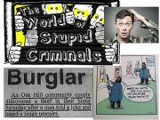 English powerpoint: VOCABULARY IN CONTEXT - STUPID CRIMINALS - PART 1 OF 2