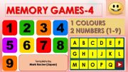 English powerpoint: Memory(Matching) games SET4 - COLOURS, NUMBERS