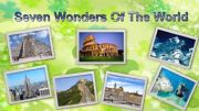 English powerpoint: seven wonders of the world