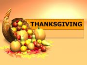 English powerpoint: Thanksgiving