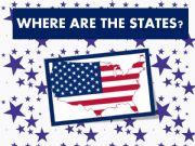 English powerpoint: Where are the US states ? Prepositions of place