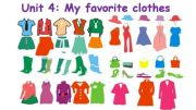 English powerpoint: My favorite clothes