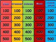 English powerpoint: Jeopardy for intermediate