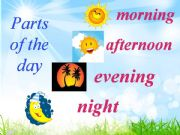 English powerpoint: Parts of the Day