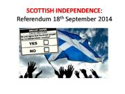 English powerpoint: Scottish Independence
