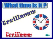 English powerpoint: What time....?