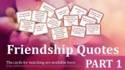 English powerpoint: Friendship Quotes Part 1