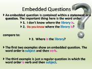 English powerpoint: Embedded Questions