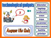 English powerpoint: Technological Gadgets