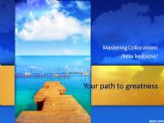 English powerpoint: Mastering Collocations