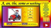 English powerpoint: A, an, the, some or nothing