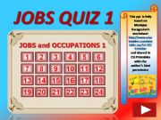 English powerpoint: Jobs and Occupations QUIZ 1 (out of 4)