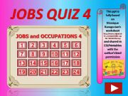 English powerpoint: Jobs and Occupations QUIZ 4 (out of 4)