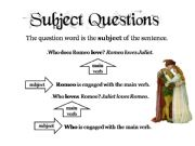 English powerpoint: Subject Questions Explanation