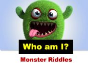 English powerpoint: Monster Riddles