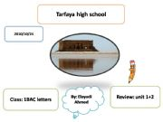 English powerpoint: REVIEW EDUCATION CULTURAL HERITAGE