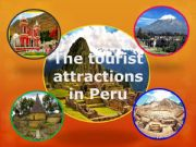 English powerpoint: Tourist places in Peru