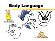 English powerpoint: Body language vocabulary