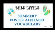 English powerpoint: INTERACTIVE - ALPHABET POSTER VOCABULARY