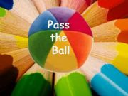 English powerpoint: Pass the ball with countries´ flags