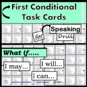 English powerpoint: First Conditional- Task Cards - Speaking Drill