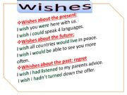 English powerpoint: WISHES