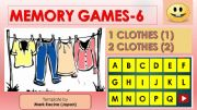 English powerpoint: Memory (Matching) games SET6 - CLOTHES