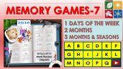 English powerpoint: Memory (Matching) games SET 7 - DAYS, MONTHS, SEASONS