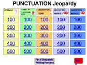 English powerpoint: Punctuation Jeopardy Game