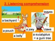 English powerpoint: Australian animals listening