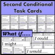 English powerpoint: Second Conditional - Task Cards - Speaking Exercise