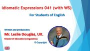 English powerpoint: PPT 041 Idiomatic Expressions On all Fours with WS