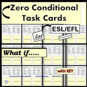 English powerpoint: Zero Conditional - Task Cards - Matching Activity