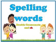 English powerpoint: Words with double consonant