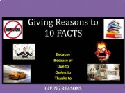 English powerpoint: Part II: Practice giving reasons (Pair-Work)