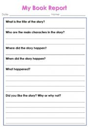 English powerpoint: book report